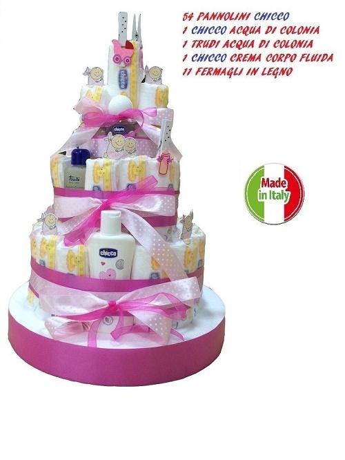 Estremamente Torta di pannolini chicco – Skizzo Bimbi IM68