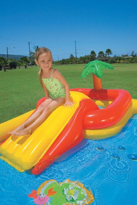 Piscina gonfiabile oceano playground intex con scivolo e - Piscina intex gonfiabile ...